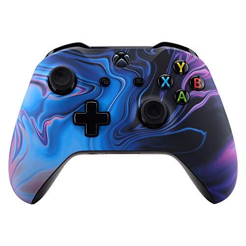 eXtremeRate Gehäuse für Xbox One X/S Controller,Gehäuse Hülle Schale Case Faceplate Zubehör Ersatzteile für Xbox One S/Xbox One X Controller Modell 1708(Ursprung des Chaos)