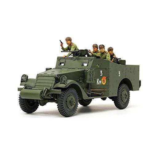 TAMIYA 35363-1:35 US M3A1 Scout Car/Spaanwagen, modelbouw, plastic bouwpakket, hobby, knutselen, lijmen, modelbouwpakket, modelbouw