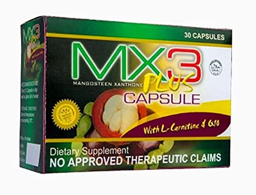MX3 Plus Capsules with L-Carnitine & CQ10, 30 Caps