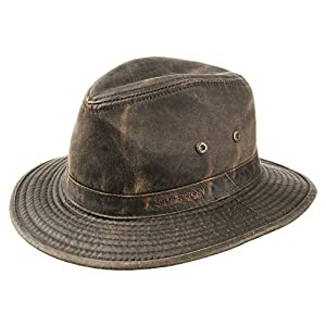 Stetson Ava Distressed Cotton Hat with UPF 40+ Protection
