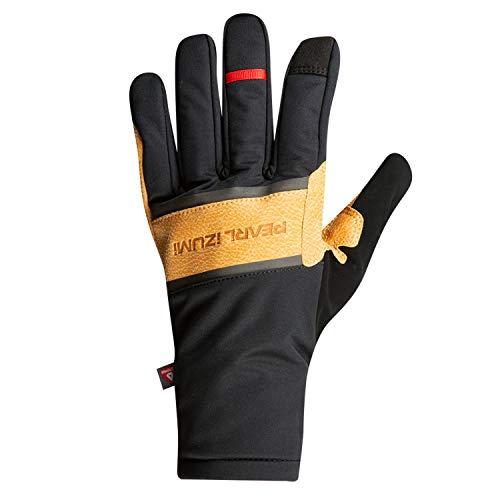 PEARL IZUMI AmFIB Lite Handschuhe Black/Dark tan Handschuhgröße L 2020 Fahrradhandschuhe