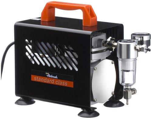 Revell 39137 olievrije zuigercompressor Standard Class voor Airbrush Airbrushcompressor voor beschilderen en lakken, zwart