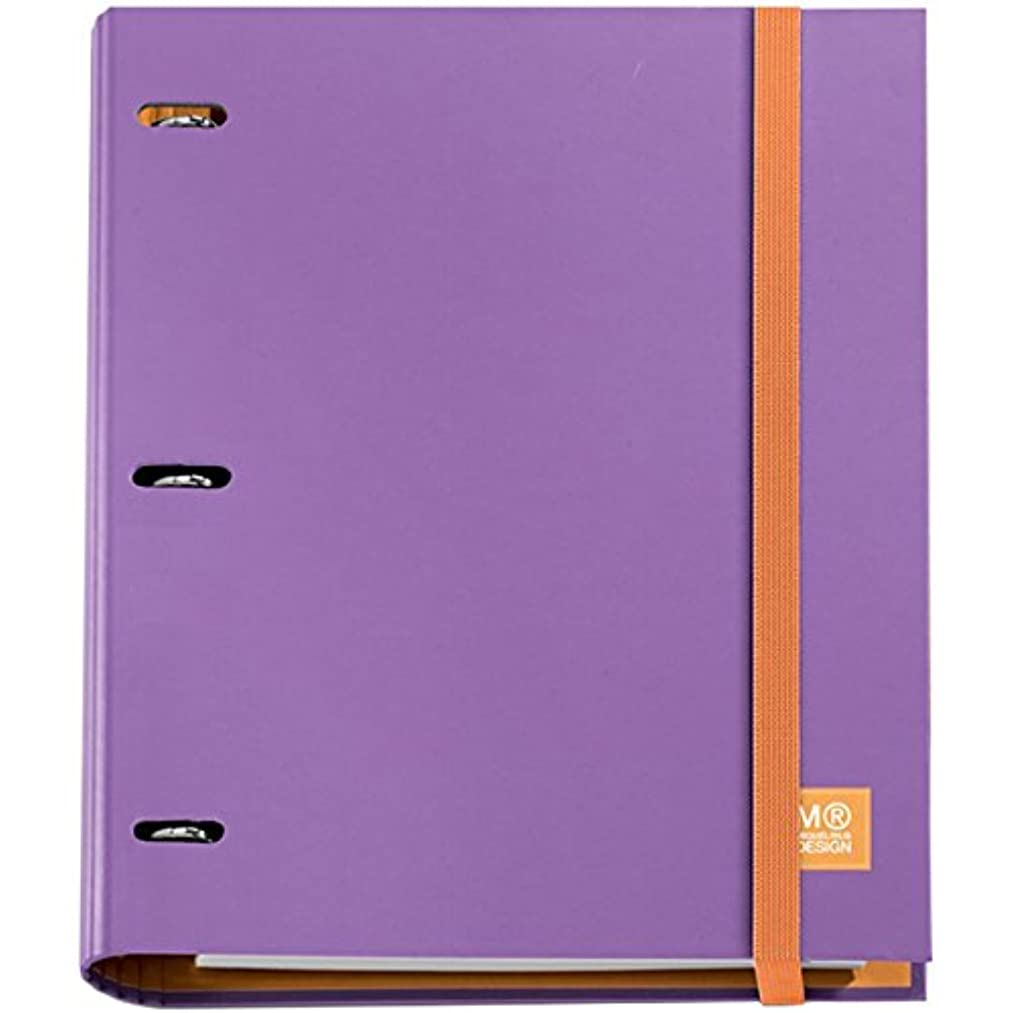 Miquelrius 3-Ring Refillable Binder & 100 Sheets Of Paper-Lilac