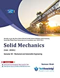 Solid Mechanics For SPPU B.E.Mechanical & Automobile Engineering Sem 3