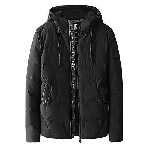Amphia - Herbst- und Wintermode für Herren Dicke warme ManteljackeMänner Wintermode Hoodie Reißverschluss Reine Farbe verdickte Baumwolle Outwear Jacke Mantel