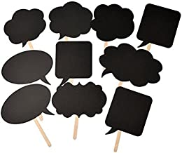 HuanX35 Photo Booth Kit,Writable Black Card Board Photographing Props Party Favor(10pcs Different Shapes), style 1#