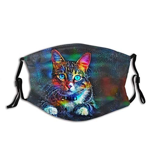 Adorkable Máscara de cara de gato, protectora-lavable, reutilizable, bufandas, para unisex, BeautyCat-1 unidad