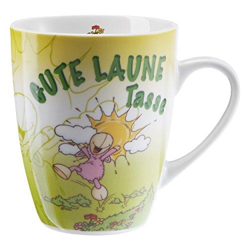 NICI Tasse Gute Laune Tasse Kaffeetasse, Becher, Schaf, Geschenk, Kaffeebecher, 270 ml, 39891
