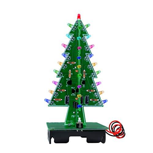 3D Christmas Tree LED lampeggiante fai da te Kit 7 color flash circuito LED