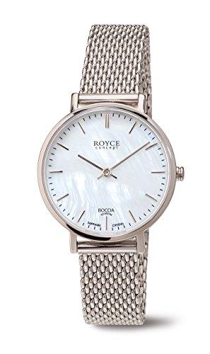 Boccia Damen Digital Quarz Uhr mit Edelstahl Armband 3246-10