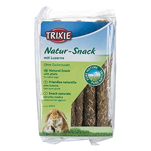 Trixie - Caramelle Naturali con Bastoncini di Erba Medica, roditori o Conigli. - TR-60314-60 g