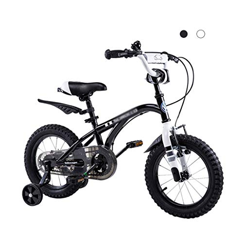 bicicleta Cochecito for niño Carretera montaña for niños Aprendizaje for niños (Color : Black, Size : 12 Inches)