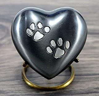 eSplanade Heart Shaped Pet Cremation urn Memorial Container Jar Pot | Brass Urns | Metal Urns | Burial Urns | Memorial Kee...