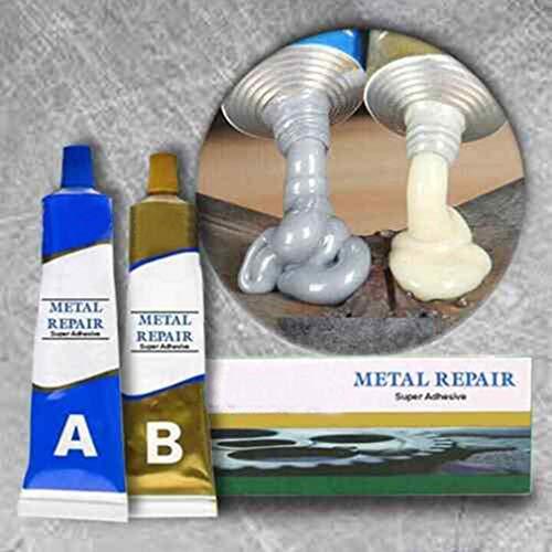 Magic Metal Mending Agent 65g A+B Glue-Magic Metal Mending Agent 65g A+B Glue-Industrielle Hitzebeständigkeit Kaltschweißmetall-Reparaturpaste, Metallkleber Hochfeste Bindungen Metall an Metall (65g)