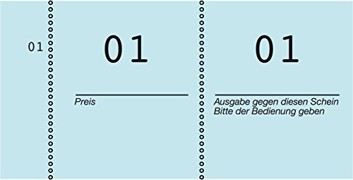 AVERY Zweckform 869-10-4 Nummernblock, Kompaktblock, fortlaufend nummeriert, 10 Blöcke/1 Stück blau