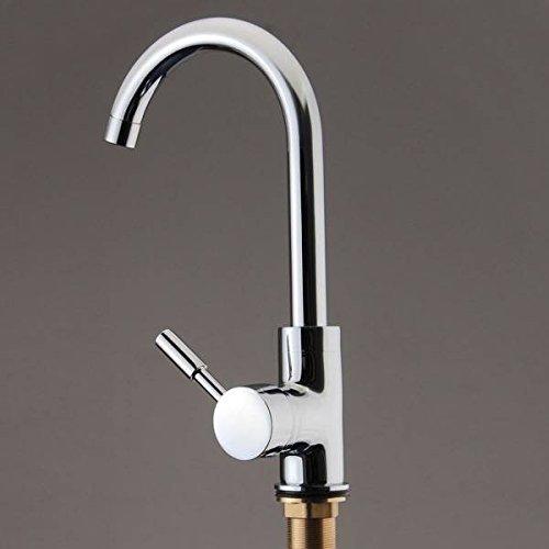 mark8shop 360Rotation schwenkbarer Auslauf Luftsprudler Mono Küchenspülen Becken Schüssel Mixer Wasserhahn