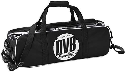 DV8 Tactic Bowlingtasche mit 3 Schuhen, Schwarz