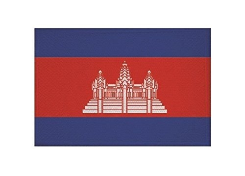 U24 Aufnäher Kambodscha Fahne Flagge Aufbügler Patch 9 x 6 cm