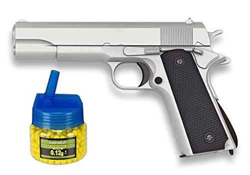 Tiendas LGP, Albainox 38344 Arma Airsoft, Pistola Aire Suave, Potencia 0,8 Julios, Munición Bolas PVC 6 mm. + Biberón 500 Bolas 12 Gramos de 6 mm. de Regalo