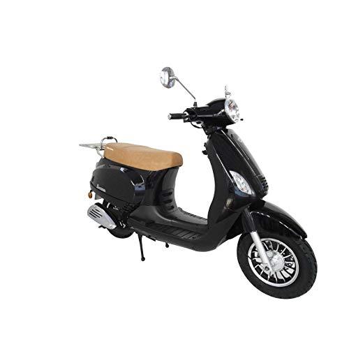 KEN ROD Moto Scooter 125 CC | Moto Gasolina Adultos | Ciclomotor Gasolina | Moto Gasolina 4 Tiempos | Scooter Gasolina | Incluye Matriculación (negro)