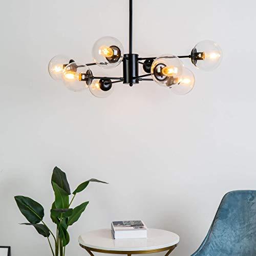 KOSILUM - Suspension en étoile à 8 sphères - Brecht - Lumière Blanc Chaud Eclairage Salon Chambre Cuisine Couloir - 8 x 40W - - E27 - IP20