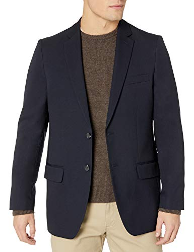 Haggar Clothing Men's Tailored Fit In Motion Blazer - 40 Regular - Midnight
