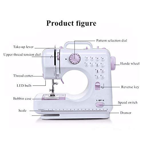 Best Prices! GUZAILI Portable Sewing Machine, Hand Held Overlock Lting Double Speed Compact Sewing M...
