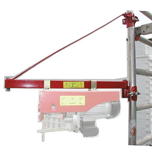 Schwenkarm KST600 für Seilwinden/Kranarm max 600kg Last 75cm Auslage für Seilzüge/Lastarm für Hebezüge