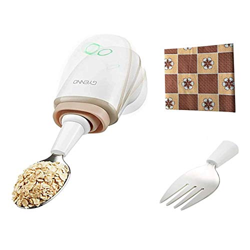 GYENNO Parkinson Spoon for hand tremo, 3.9 x 1 x 1.2 inches, White