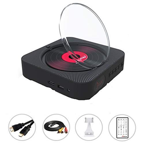 Reproductor DVD/CD,Reproductor de música y películas Bluetooth con HDMI, Altavoces de Alta fidelidad, Radio FM USB MP3,Conector para Auriculares de 3.5 mm,Regalos para el hogar