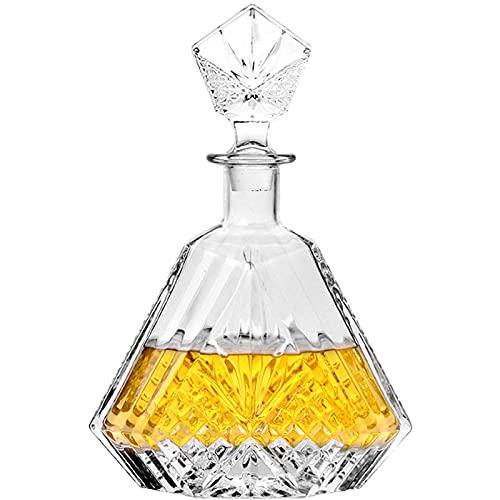 Decantatore di bottiglia di vetro, bicchiere di cristallo Bottiglia di vino sigillato con coperchio stoccaggio vino utensili da vino per il vino Bourbon Brandy Brand