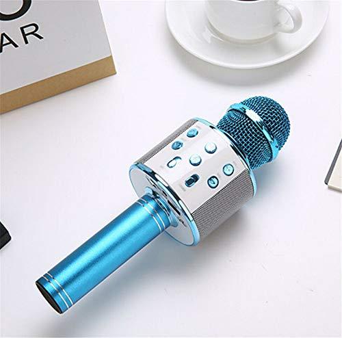 Micrófono De Karaoke Inalámbrico Bluetooth, Reproducción, Canto, Grabación De Función 3 en 1, Máquina Portátil De Altavoz Portátil para Fiestas En Casa para PC Android y iOS Teléfonos y Más, Azul