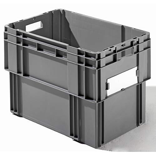 Couvercle - L x l x h 600 x 400 x 32 mm - noir, lot de 4 - accessoires bac gerbable emboîtable bacs gerbables emboîtables conteneur couvercle à poser Accessoire Accessoires Couvercle Couvercle à