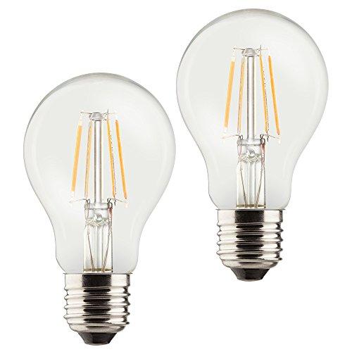 Müller-Licht–400295_ Set A + +, Juego de 2Retro de forma bombilla LED (equivalente a 60W, cristal, 6W, E27, Plata, 6x 6x 10.6cm