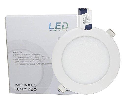 Lowenergie LED-Deckenleuchte/Deckenlampe/Flächenleuchte, rund, 9 W, 150mm Durchmesser, weißes, versenktes, hinabstrahlendes Licht, entspricht einem 75W-Halogen-Leuchtmittel 4000 K Warmweiß