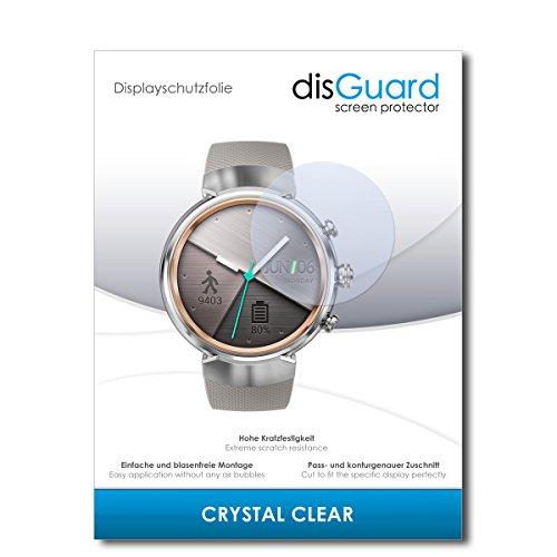 disGuard® Bildschirmschutzfolie [Crystal Clear] kompatibel mit Asus Zenwatch 3 WI503Q [2 Stück] Kristallklar, Transparent, Unsichtbar, Extrem Kratzfest, Anti-Fingerabdruck - Panzerglas Folie, Schutzfolie