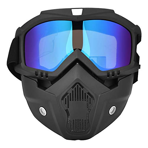 ZJchao Winter Snow Sports Face Goggles, Ski Snowboard Motorcycle Full Face Mask Shield Goggles Glasses Colorful