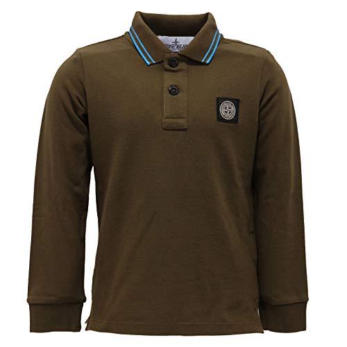 Stone Island 6950AB Polo Bimbo Boy JUNIOR Green Garment Dyed Polo t-Shirt Kids [4 Years]