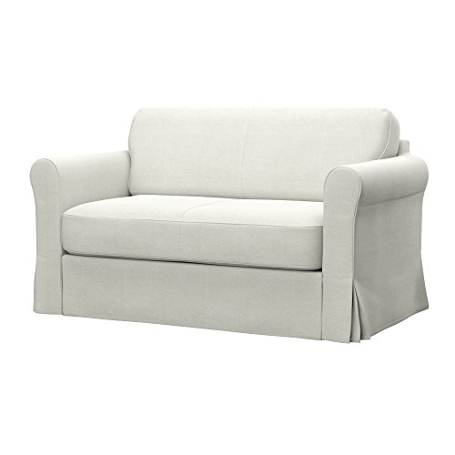 Soferia - IKEA HAGALUND Funda para sofá Cama, Elegance Ecru