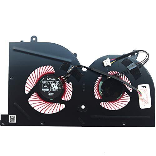 (GPU Version) Lüfter Kühler Fan Cooler kompatibel für MSI GS63VR 7RE-011, GS63VR 7RF-627, GS63VR 7RF-213, GS63VR 7RG-005, GS73 7RE-013, GS73 7RE-014, GS73 8RF-656, GS73VR 7RG-004, GS73 8RF-011
