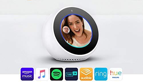 Amazon Echo Spot, Smart Alarm Clock with Alexa - White