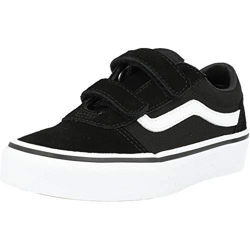 Vans Ward V-Velcro, Sneaker, Nero ((Suede/Canvas) Black/White Iju), 34 EU