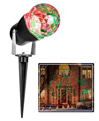 Gemmy LED Lightshow Kaleidoscope Projection Red & Green Spotlight for Christmas, Parties, Landscape!
