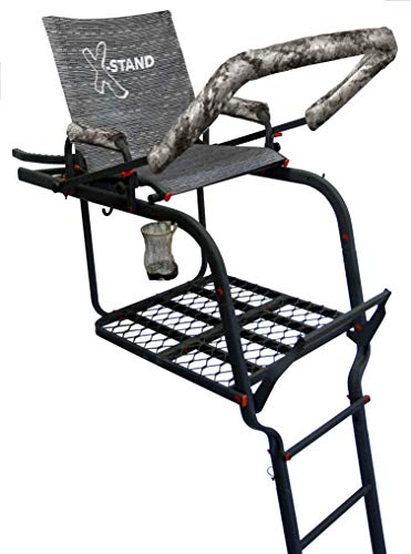X-Stand Treestands The General X 22' Single-Person Ladderstand Hunting Tree Stand, Grey