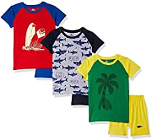 SOUTH SAILOR Boys Cotton Regular fit T-Shirt and Shorts (Multicolor_2 to 16 Years) Pack of 6