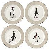 Portmeirion Home & Gifts SMPE78987-XG - Juego de 4 platos para tartas (porcelana)