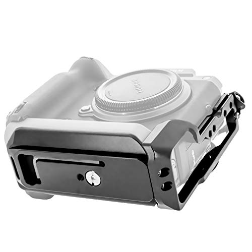 Kamera Solide Aluminium L-förmigen Bracket Schnellkupplungen Vertical Grip Halter Platten für Fuji Fujifilm GFX 100 Schnellwechselplatte