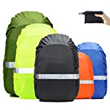 Frelaxy Hi-Visibility Backpack Rain Cover with Reflective Strip 100% Waterproof Ultralight Backpack Cover (Black with Reflective Strip, S (for 15L-25L Backpack))