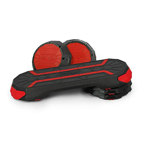Yes4All Premium Aerobic Step Platform for Workouts and Step Training (Red), x-Large