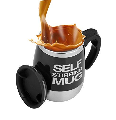 Mengshen Cafe Tazas, Self Stirring Mug Travel Coffee Cup Automatica Mixing Stainless...